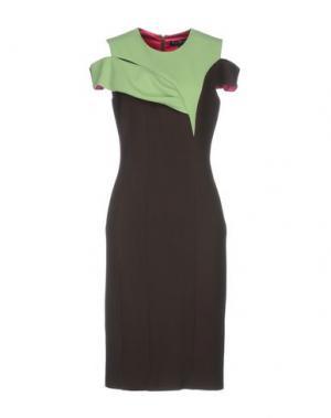 Платье до колена IVAN MONTESI. Цвет: темно-коричневый