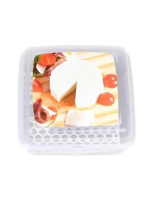 Контейнер для сыра, 1,2 л. Migura. Цвет: прозрачный, красный, бежевый