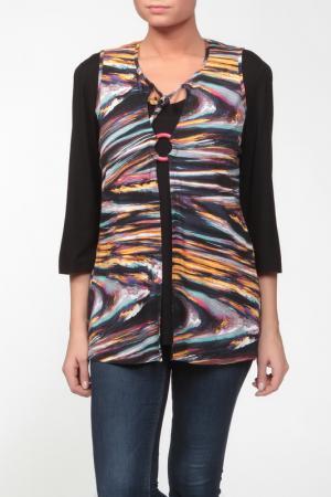 Блузка CHALOU. Цвет: мультицвет