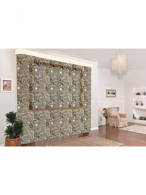 Комплект тюль Арабская ночь  150*270 (2) МарТекс. Цвет: зеленый, бронзовый, коричневый