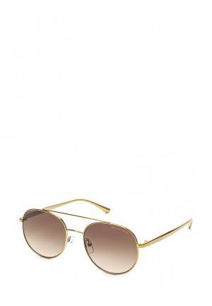 Очки солнцезащитные Michael Kors. Цвет: золотой