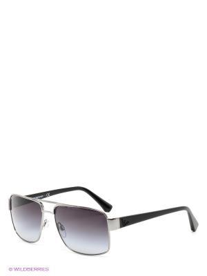 Очки солнцезащитные Emporio Armani. Цвет: серебристый, черный
