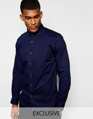 Wincer & Plant Облегающая строгая рубашка эксклюзивно для. Цвет: темно-синий