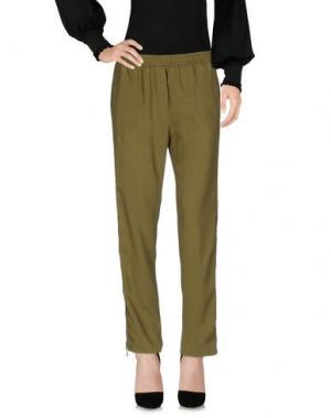 Повседневные брюки NUDE. Цвет: зеленый-милитари