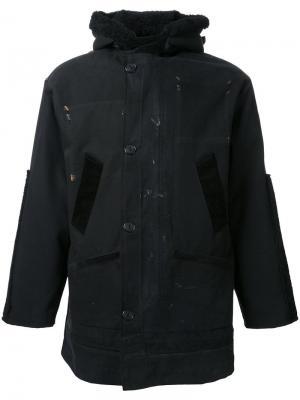Куртка-дафлкот Longjourney. Цвет: чёрный