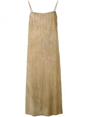 Полосатое платье шифт Uma Wang. Цвет: чёрный