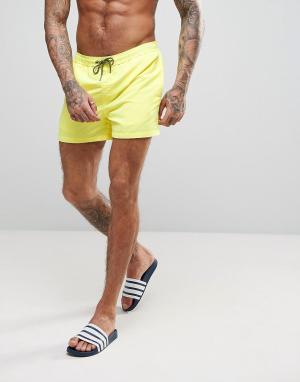 Jack & Jones Желтые шорты для плавания. Цвет: желтый