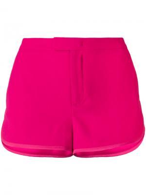 Классические шорты в спортивном стиле Red Valentino. Цвет: розовый и фиолетовый