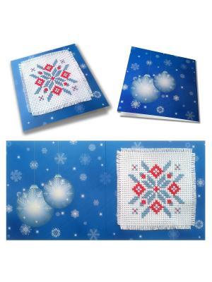 Набор для изготовления открытки Новогоднее чудо (синяя) ZENGANA. Цвет: синий