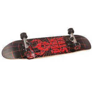 Скейт мини круизер детский  S6 Shatter Youth Soft Wheel Mid Red 7.5 x 29 (73.6 см) Darkstar. Цвет: черный,красный