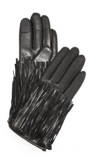 Перчатки для использования смартфонов с бахромой Rebecca Minkoff