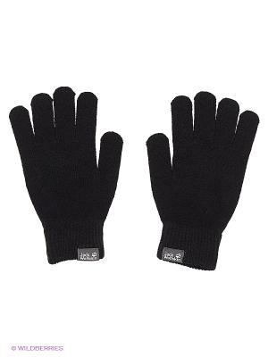 Перчатки RIB GLOVE Jack Wolfskin. Цвет: черный