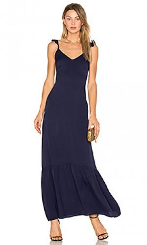 Макси платье с рюшами vella Line & Dot. Цвет: синий