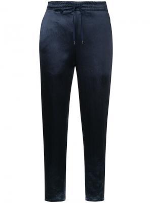 Укороченные спортивные брюки H Beauty&Youth. Цвет: синий