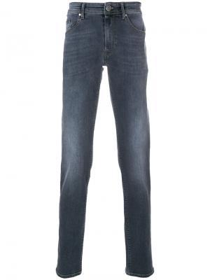 Выбеленные прямые брюки Pt05. Цвет: синий