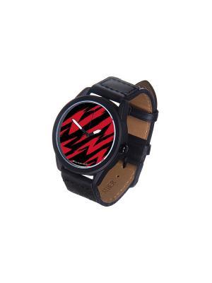 Часы Mitya Veselkov. Цвет: красный, черный