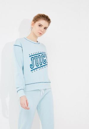 Свитшот Juicy by Couture. Цвет: голубой