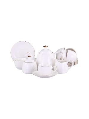 Набор чайный 15 предметов 200 мл. PATRICIA. Цвет: белый