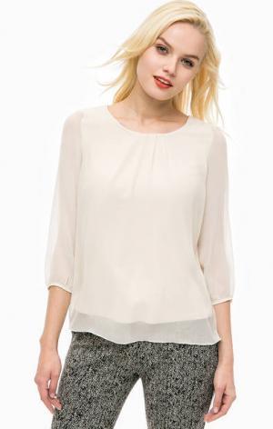 Блуза с подкладкой из вискозы MORE &. Цвет: бежевый