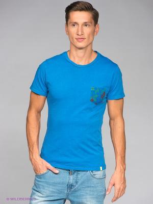 Футболка Bramante. Цвет: голубой, зеленый