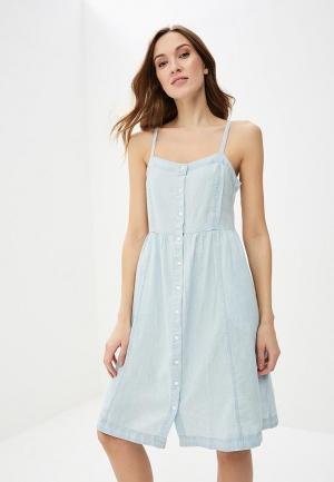 Платье джинсовое Levis® Levi's®. Цвет: голубой