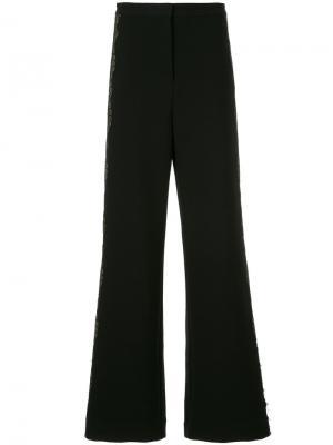 Широкие брюки Self-Portrait. Цвет: чёрный