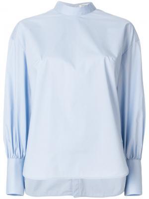 Блузка с круглым вырезом Enföld. Цвет: синий
