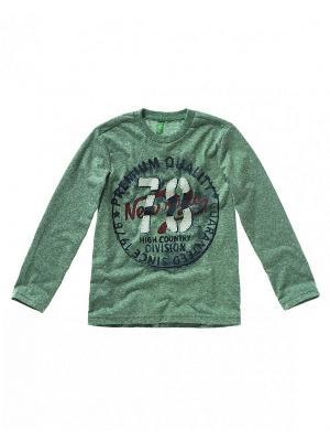 Свитер United Colors of Benetton. Цвет: серый, серо-зеленый, темно-зеленый