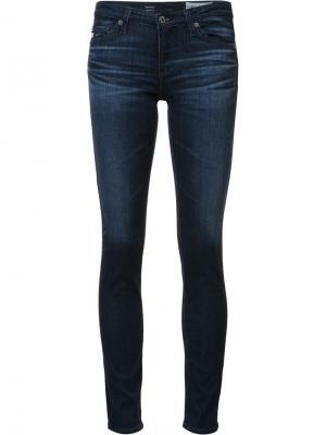 Джинсы кроя скинни Ag Jeans. Цвет: синий