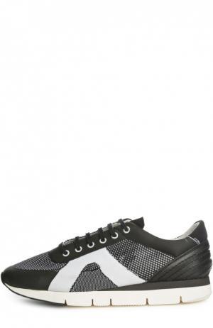 Сверхлегкие кеды со вставками из текстиля O.X.S.. Цвет: черно-белый