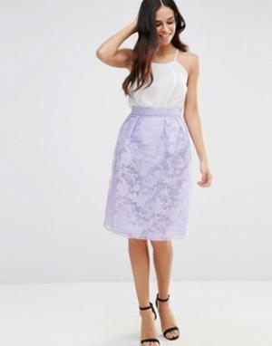 Lashes of London Платье с пышной юбкой. Цвет: фиолетовый