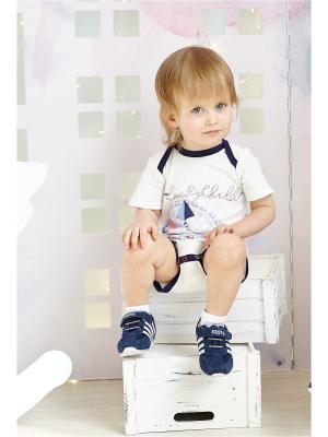 Боди Lucky Child. Цвет: синий, молочный