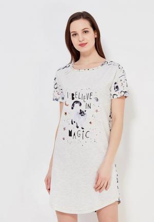 Сорочка ночная Marks & Spencer. Цвет: бежевый