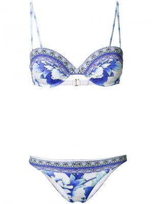 Printed bikini Camilla. Цвет: синий