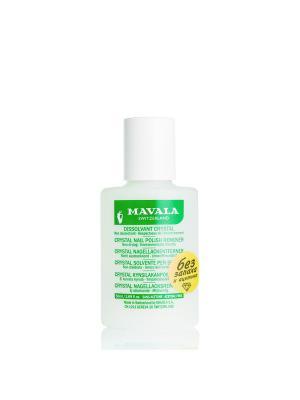 Жидкость для снятия лака без запаха Crystal 50ml Mavala. Цвет: прозрачный