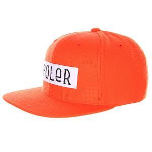 Бейсболка  Furry Font Trucker Hat Solid Back Burnt Orange Poler. Цвет: оранжевый