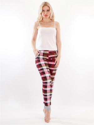 Домашние брюки HELLO MODA!. Цвет: розовый