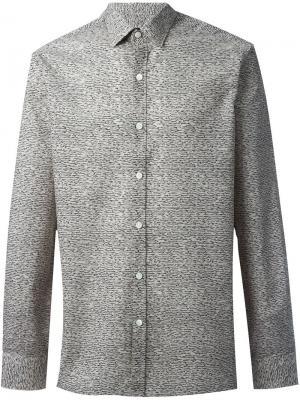 Рубашка с мелким узором Lanvin. Цвет: серый