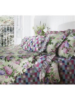 Комплект постельного белья MonaLiza&SergLook Provance 2-х сп. Lilac Mona Liza. Цвет: зеленый, бирюзовый, сливовый