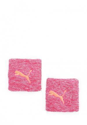 Напульсники PUMA. Цвет: розовый