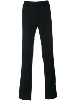 Прямые брюки Massimo Alba. Цвет: чёрный