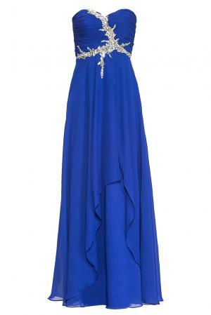 Платье из искусственного шелка 167888 Paola Morena. Цвет: синий