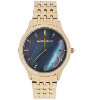 Часы с золотистым металлическим браслетом Karen Millen