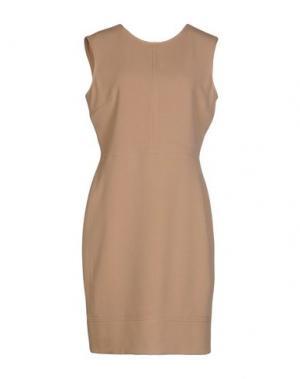 Короткое платье MALAICA. Цвет: песочный