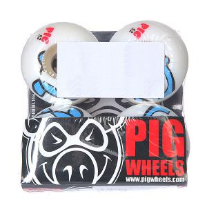 Колеса для скейтборда  Penguin Blue 101A 52 mm Pig. Цвет: белый,голубой