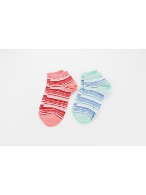 Носки, 2 пары Гамма. Цвет: зеленый, персиковый