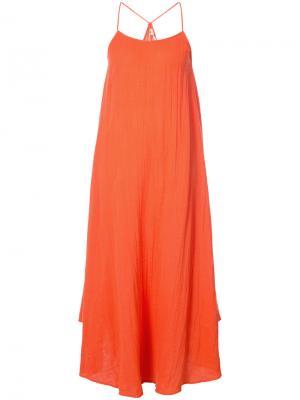 Платье с жатым эффектом Rhode Resort. Цвет: жёлтый и оранжевый