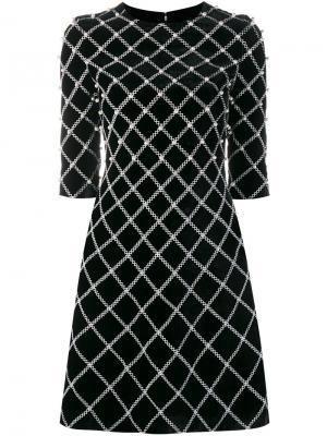 Декорированное платье Huishan Zhang. Цвет: чёрный