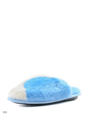 Тапочки Mon Ami. Цвет: голубой, белый