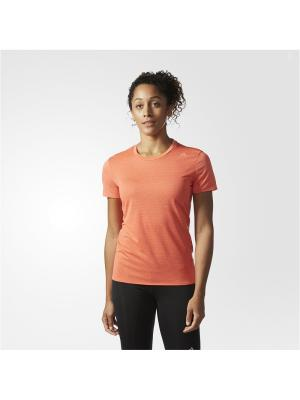 Футболка спортивная жен. SN SS TEE W Adidas. Цвет: оранжевый